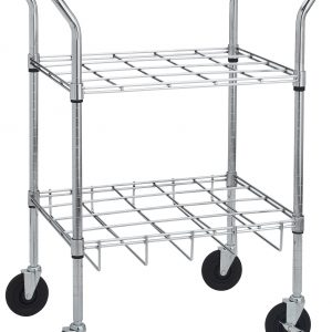 Chrome Oxygen Cylinder Cart