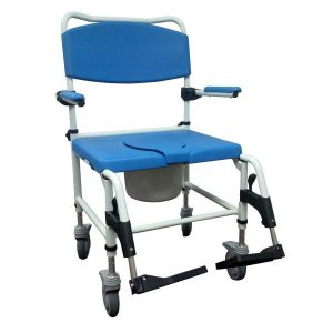 Bariatric Aluminum Rehab Shower Commode Chair 2