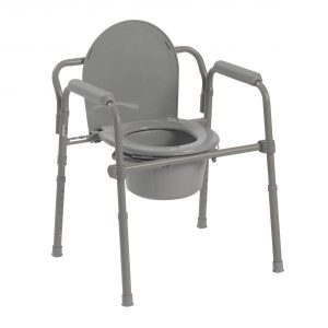 Competitive Edge Line Folding Steel Commode