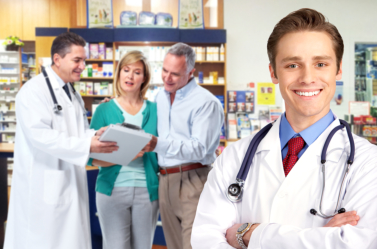 pharmacists and client