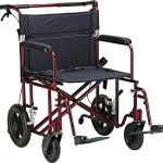 22″ Bariatric Aluminum Transport Chair