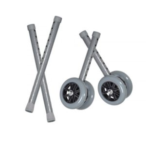 5″ Bariatric Walker Wheels, Combo Pack