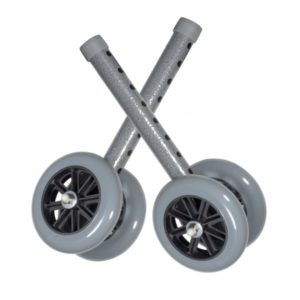 5″ Bariatric Walker Wheels with Two Sets of Rear Glides
