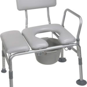 Combination Padded Transfer Bench or Commode