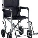 Deluxe Go-Kart Steel Transport Chair (Chrome)