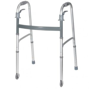 Deluxe, Trigger Release Folding Walker with Wheels