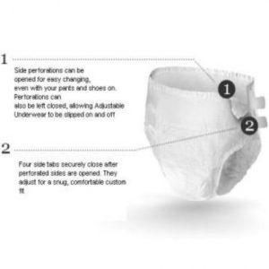 Depend Adjustable Underwear Sml OR Med (19183)