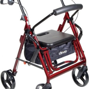 Duet Rollator OR Transport Chair, 8″ Casters
