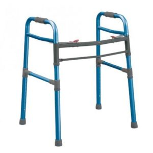 Universal (Adult) Deluxe Folding Walker, Two Button