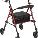 Adjustable Height Rollator with 6″ Wheels