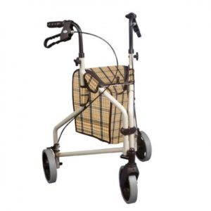 Winnie Lite Supreme-Go Lite 3 Wheel Aluminum Rollators, 7.5″ Casters with Loop Locks
